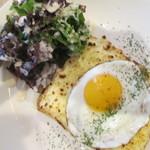 大人カジュアルバル moncozy - ハムチーズ卵のクロックマダム