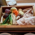 タイムズ スパ・レスタ - いも豚ロースと季節野菜(アップ)