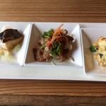 restaurant bio - 3種の惣菜