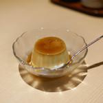 とり五鐵 - 親子丼セットのデザートプリン