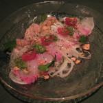 プラチナフィッシュ マルシェ 個室 - 鮮魚のカルパッチョ