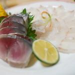 食い処 松味 - 料理写真:〆さば、ひらめうす造り