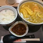 57192894 - カレーうどんと牛すじ味噌煮のセット