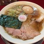 麺一盃 - 和風魚介味(700円)+半熟味付玉子(100円)