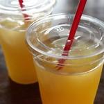 石窯ピッツァ moon - りんごジュース&グレープフルーツジュース