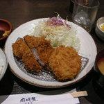 京長家 麻暖簾 - ひれコロ定食