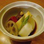 くさび - 豚の角煮と炊き合わせ