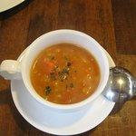 5720781 - ランチのスープ、ミネストローネ