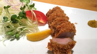 遊食豚彩 いちにいさん 銀座店 - 黒豚ヒレカツ定食(1600円)