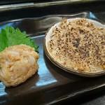 幸甚寿司 - ホタテのナメロウ2種