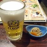 牡蠣喰家来 すすきの3.4店 - ビールです