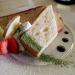 CAFE DROME - シフォンケーキセット1000円