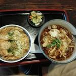 車屋 - ミニカツ丼とかき揚げ蕎麦