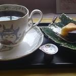 長屋門cafe いわさき花門 - セットのコーヒー