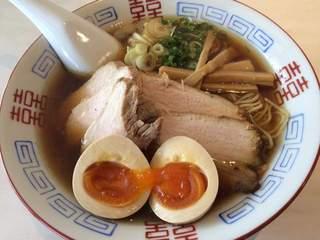 麺処 あんかつ - 醤油ラーメン+三種増し(味玉、チャーシュー、メンマ)