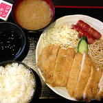 炭火焼 ぢどり家 - ジャンボチキンカツ(勝つ)定食
