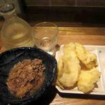 東京バッソ - セットの鳥天と鯖納豆