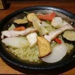 西荻RISE - 秋野菜と鶏肉のジェノベーゼパエリア