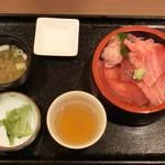 しゃくなげの湯お食事処 有明庵 - マグロ三食丼