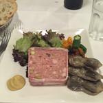 ル・マルカッサン - 前菜のテリーヌとすなぎものコンフィー