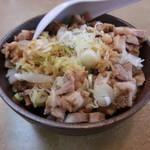 くるまやラーメン - チャーシュー丼 300円