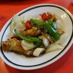 豆鼓魚魂(白身魚-カレイ-と野菜の香り炒め)