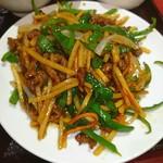 栄華楼 - 牛肉とピーマンの細切り炒め♥ (〃´o`)=3