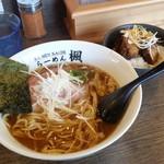 楓 - 「ランチセット(醤楓麺+楓肉めし) (900円)」