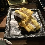 丸秀鮮魚店 - アナゴの天ぷら