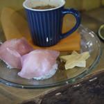 楽島モアイモ食堂 - 料理写真:ミカンちゃんのイタリアンおむすびセット~☆