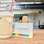 ケーコーヒー - 名刺を支えてるのが可愛い