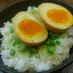 萩原家 - 味玉を乗っけてみました。