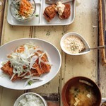 ニコキッチン -   ランチプレートとチキン南蛮定食