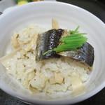 57242390 - 松茸と秋刀魚ご飯