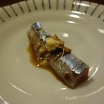旬乃味 錦 - 秋刀魚刺しは肝醤油付き