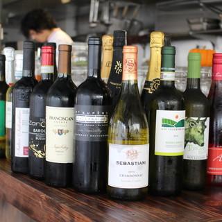 種類豊富なラインナップのワイン!