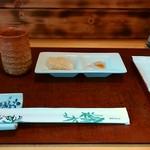 そば処 毘沙門 - 料理写真:突出し
