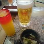琉球居酒屋 赤瓦 - オリオン生ビール