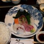 其ノ田水産 - ランチの刺身定食