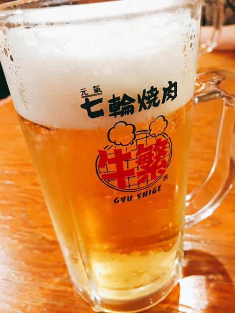 牛繁 川越店 - 生ビール☆飲み放題なので気にせず行けます♪