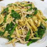 金春 - ゆばニラ炒め(850円)☆ゆばと言うよりも麺といった風情です。