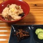 土はし - 松茸と栗の炊き込みご飯