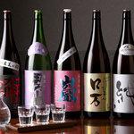 万座ホテル聚楽 - ドリンク写真:地元群馬のお酒から長野・福島など魅力的な日本酒を取り揃えております