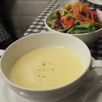 数寄屋バーグ - スープ&サラダ