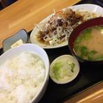 ひかり食堂 - ホルモン焼き定食(750円)★★★☆☆