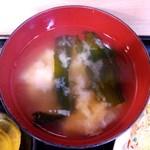 かつ美食堂 - 味噌汁:あっぷ図 by ももち