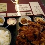 中華料理 順和園 - 鶏唐揚げ定食