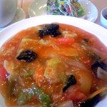 中華料理 五行山 - トマトあんかけ焼そば