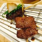 牛串 ちぇっく - ザブトン・はんばーぐ(卸ポン酢)