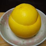 57300238 - 自家製くりぬきゼリーグレープフルーツ